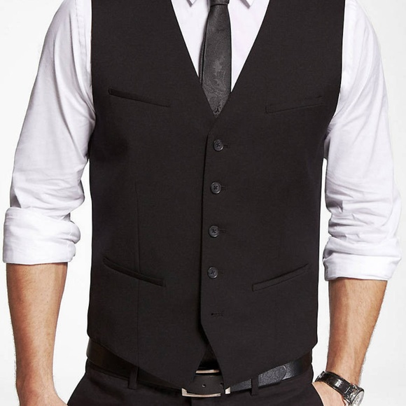 Express Other - NEW NWT MEN'S EXPRESS $79 BLACK STRETCH SUIT VEST